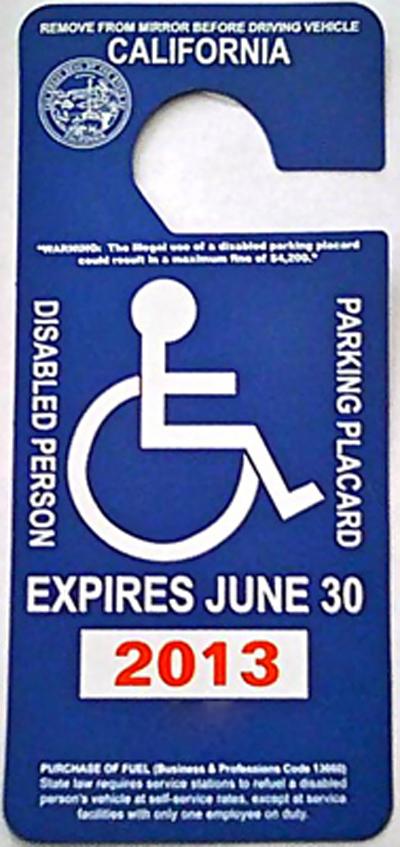 Application To Get Handicap Plack For Car For Parking
