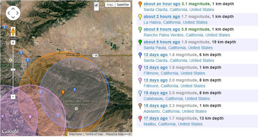 Castaic 3.1 earthquake